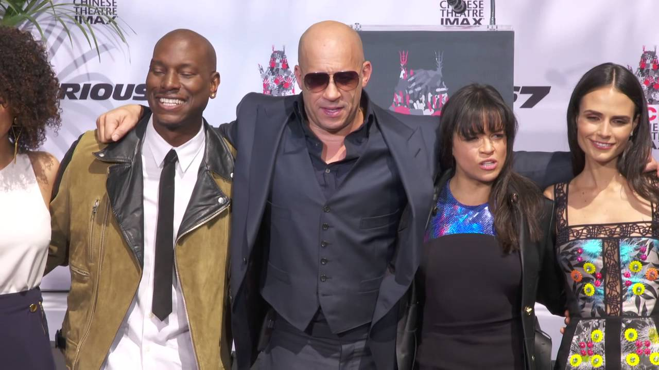 vin diesel at his hand foot ceremony with fast furious cast members youtube. Black Bedroom Furniture Sets. Home Design Ideas