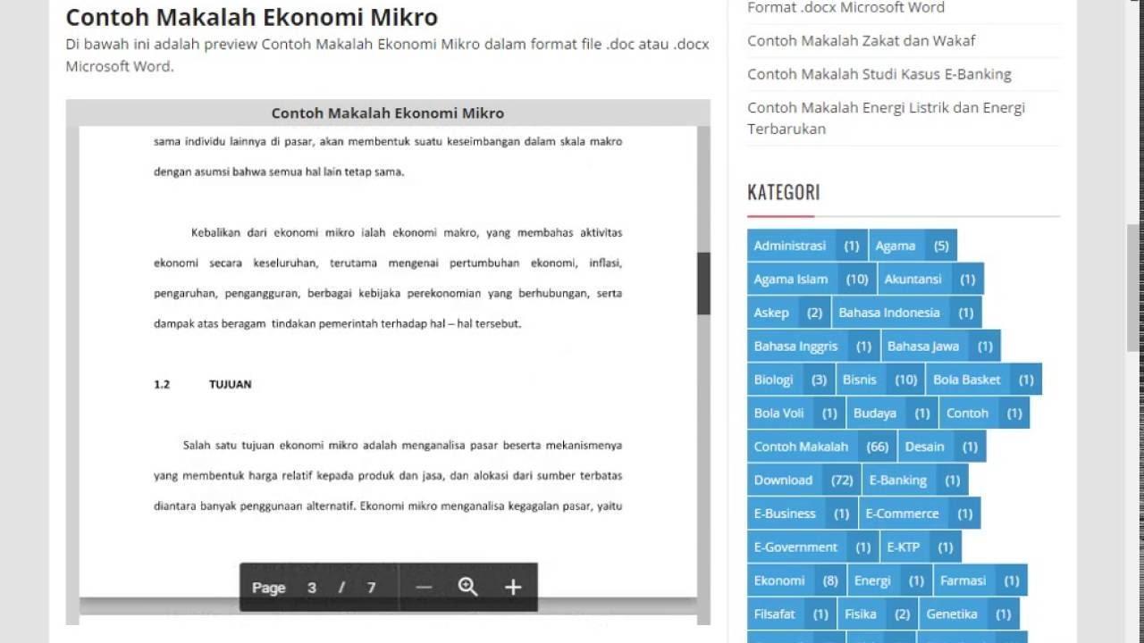 Contoh Makalah Ekonomi Mikro Dan Makro Lengkap Format Doc Docx