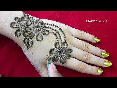 NEW Mehndi design for back hands