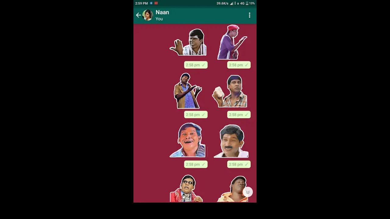 How to send Tamil sticker on whatsapp