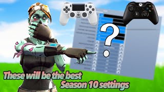 Best fortnite console Settings In Season 10 (Fast Building, Fast Edits, better aim ) My Settings !!