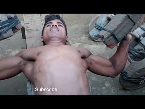 Poor Boy Man Desi  Jugad Jim Body Building Ghar Mein Banai