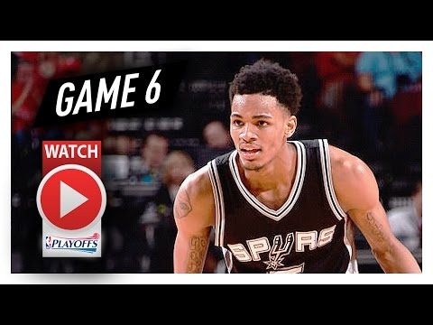 Dejounte Murray Game 6 Highlights vs Rockets 2017 Playoffs WCSF - 11 Pts, 10 Reb, 5 Ast!