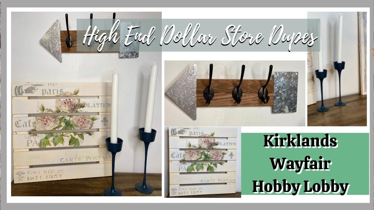 DIY Kirklands, Wayfair and Hobby Lobby Inspired Decor   High End Dollar Dollar Store DIYs