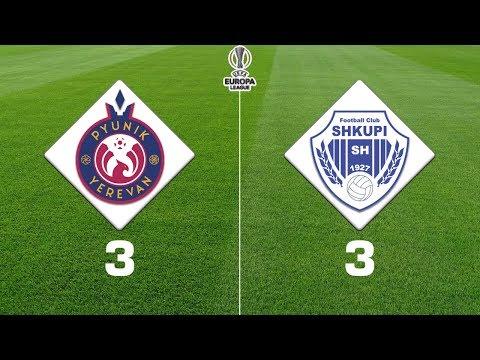 Pyunik - Shkupi 3:3, UEFA Europa League 2019/20