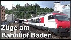 Train Station Baden, Switzerland / Züge im Bahnhof Baden, Aargau, Schweiz
