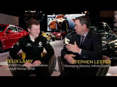 Felix Lamy, Canadian Winner – INFINITI Engineering Academy Interview