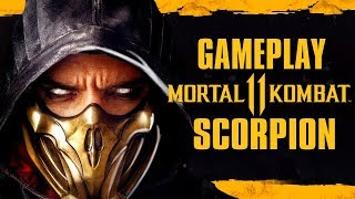 Mortal Kombat 11 - Scorpion gameplay, TUDO sobre Scorpion