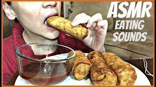 ASMR EATING EGG ROLLS   CHEWING EATING SOUNDS MUKBANG  BIG BITES