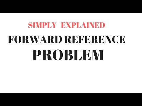 Forward reference problem  (in hindi)