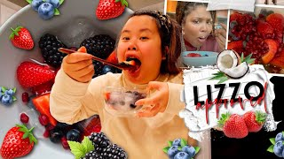 VIRAL TIK TOK NATURE'S CEREAL MUKBANG 먹방 (FRUITS + ICED COCONUT WATER) EATING SHOW FIRST IMPRESSION!