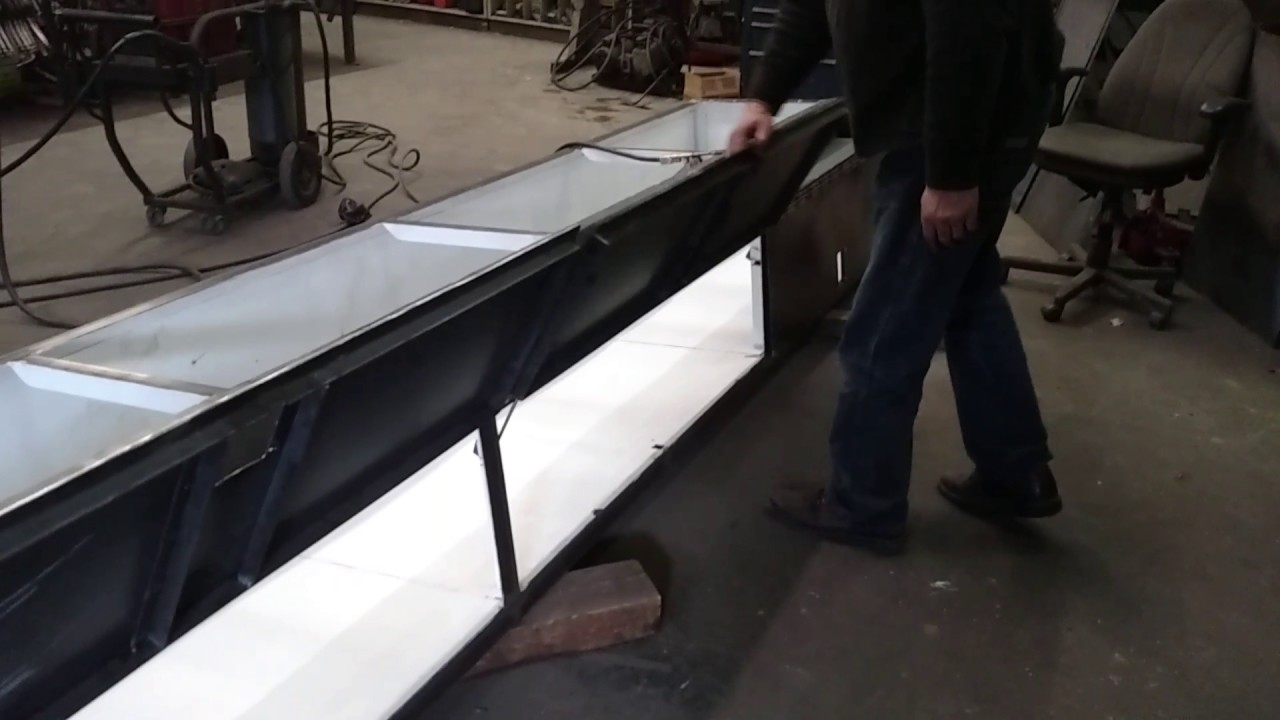 Bus luggage compartment door test.
