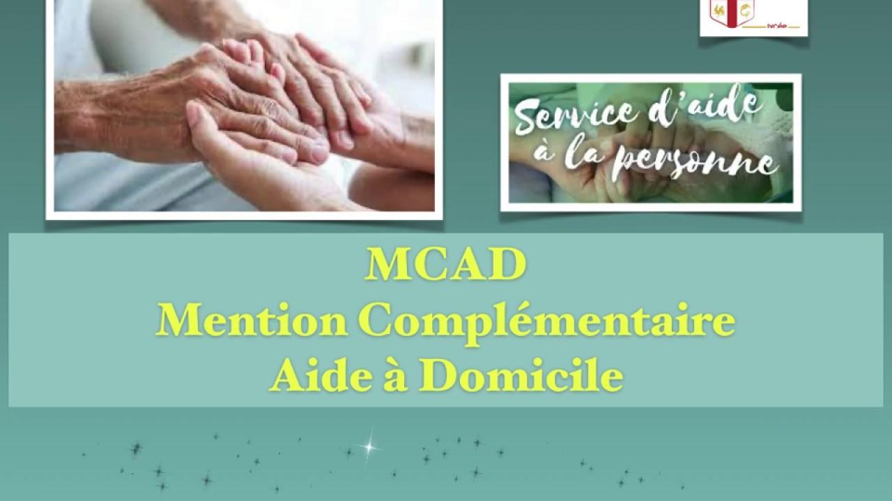MCAD : Mention Complémentaire Aide à Domicile - Groupe Scolaire