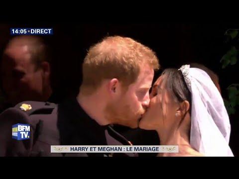Meghan et Harry échangent leur premier baiser officiel #HarryandMeghan