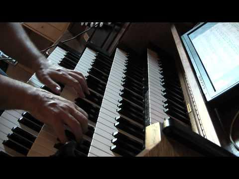 CIMAROSA Domenico:  Sonate en Ré mineur. Hauptwerk Orgue Trost Waltershausen