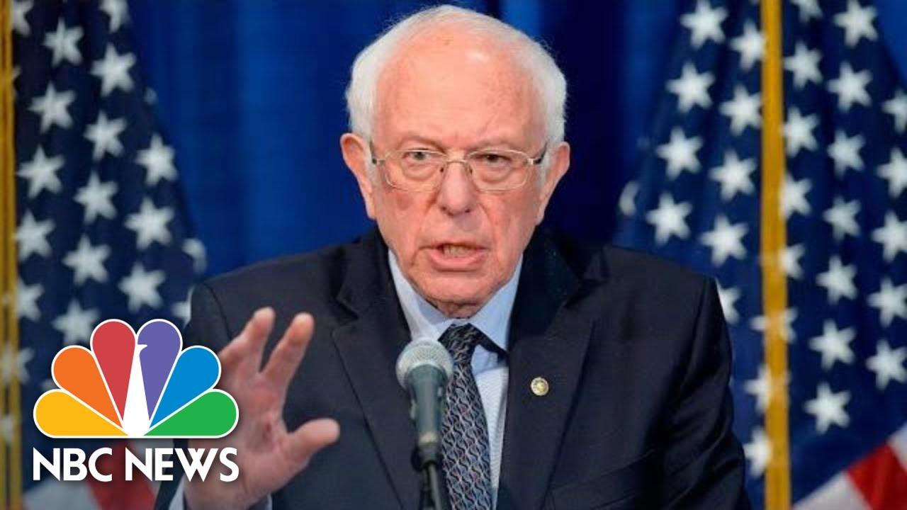 Sen. Sanders Speaks On Coronavirus Amid Primary Voting   NBC News (Live Stream Recording)