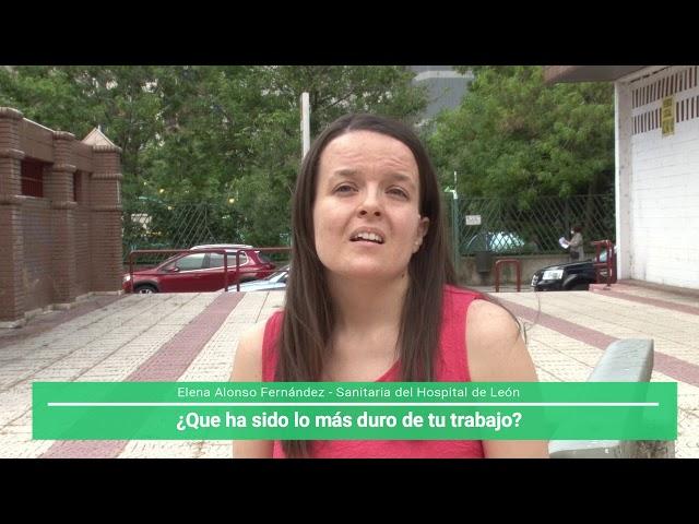 Entrevista Elena Sanitaria del Hospital de León