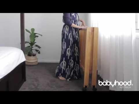 Babyhood Fold N Go Timber Folding Cot