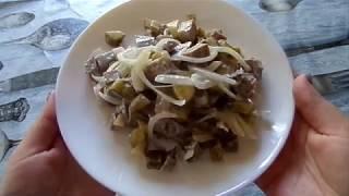 Очень вкусный салат с языком! Рецепт приготовления.