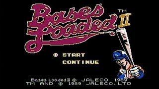 Bases Loaded II: Second Season - NES Gameplay