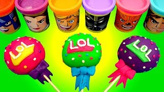 Making 3 Ice Cream out of Play Doh Lollipops Colors Song & LOL Surprise PJ Masks Disney Cars Elsa