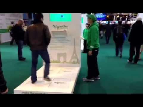 PAVEGEN making energy from footfall at Paris Marathon Running Expo