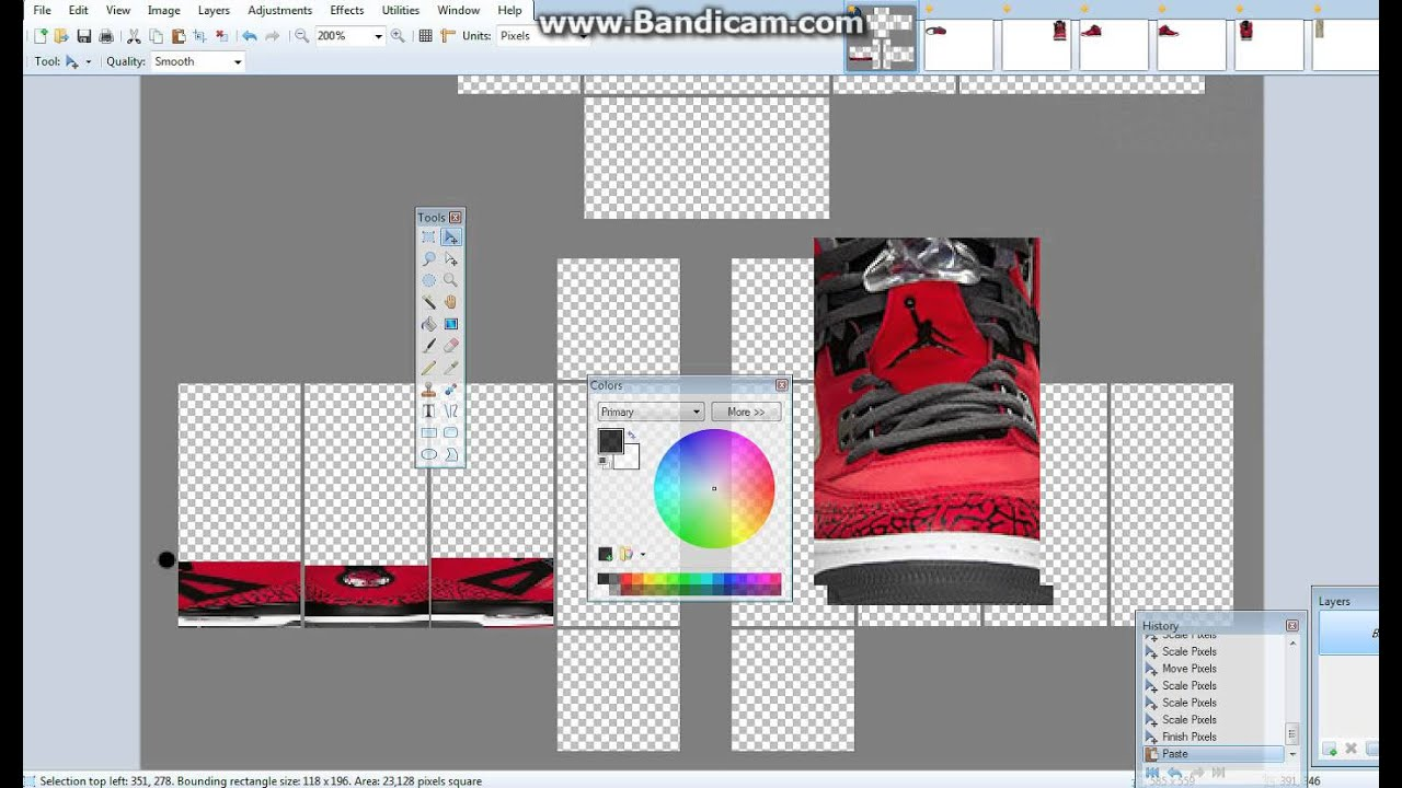 how to make shoes on roblox