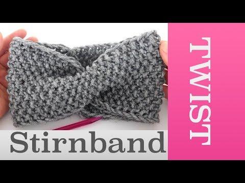 Twist Stirnband stricken im Perlmuster | Für Anfänger geeignet