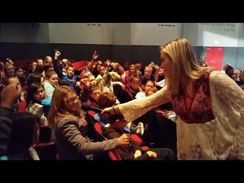Kaitlyn Baker Q&A at Sadler Arts Academy, Muskogee, Oklahoma