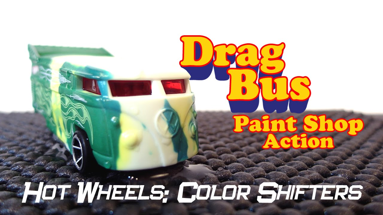 Hot Wheels Color Shifters Drag Bus Action W Slugterra Burpy And Spinner Toy Unboxing