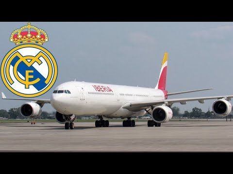 REAL MADRID ONBOARD - Iberia Airbus A340-600 (A346) landing & departing Montreal (YUL/CYUL)