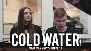 Olivia Fok & Maksymilian Grela - Cold Water in Polish and English | Grand Piano Cover