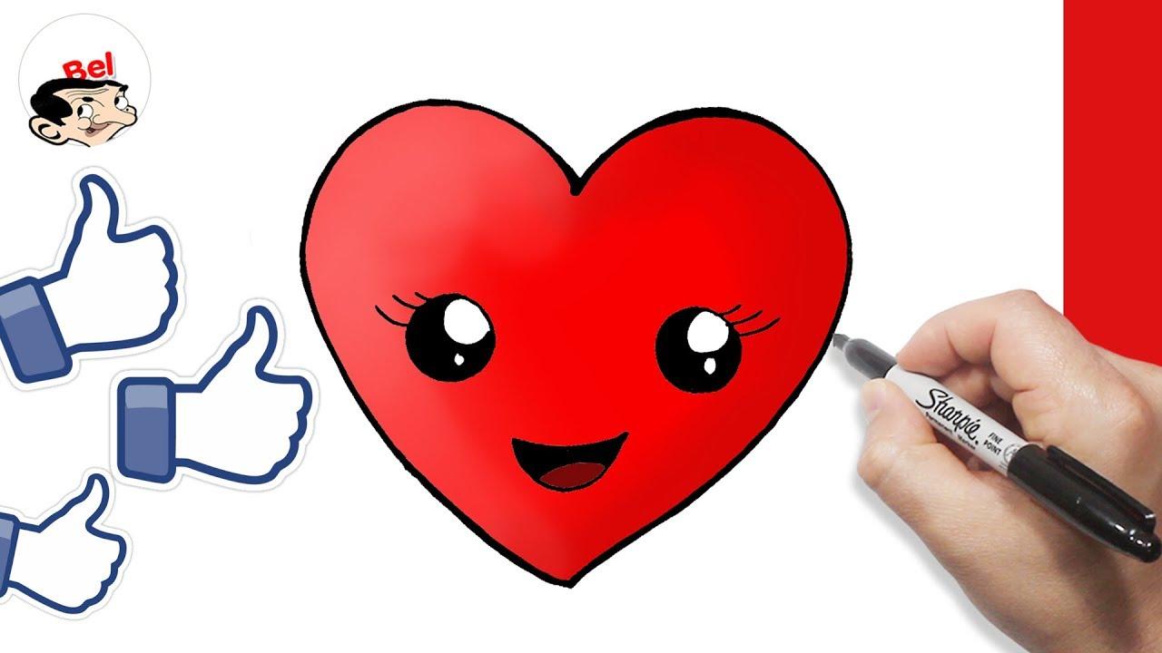 رسم قلب بالخطوات للمبتدئين قلب حب تعلم الرسم Youtube