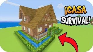 Minecraft: ¡CÓMO HACER UNA CASA MODERNA PARA SURVIVAL! | Tutorial Casa
