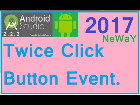 Android studio tutorial  Android button double click event  TWICE CLICK  BUTTON EVENT