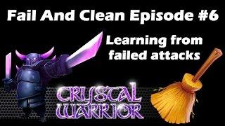 Clash Of Clans - Fail and Clean #6 - Weird Valkyrie Fail, LavaLoonion Cleanup