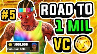 ROAD TO 1 MILLION VC w/ BEST PLAYSHARP IN NBA 2K19 AT THE STAGE #5