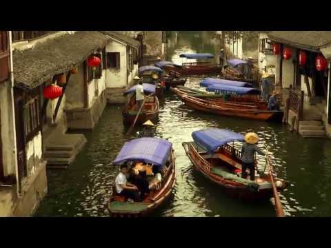 The old town of canals of Zhou Zhuang, China