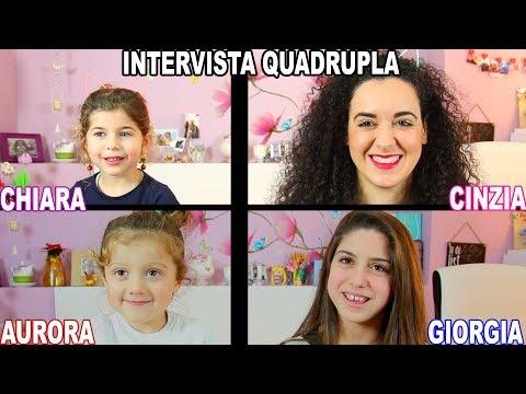 INTERVISTA QUADRUPLA con LE MIE NIPOTI | Cinzia Cavaleri