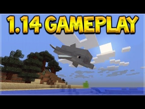 MINECRAFT 1.14 GAMEPLAY - THE AQUATIC UPDATE! DOLPHINS, SHIPWRECKS, CORALS & MORE!