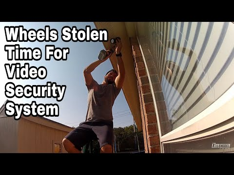Amcrest Eco HD 1080p Video Sercurity System Installation GMC wheels  Stolen