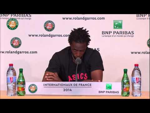 Conférence de presse G.Monfils Roland Garros 2014 1/4