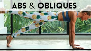 20 Min ABS & OBLIQUES | At Home Pilates Workout (Intermediate)