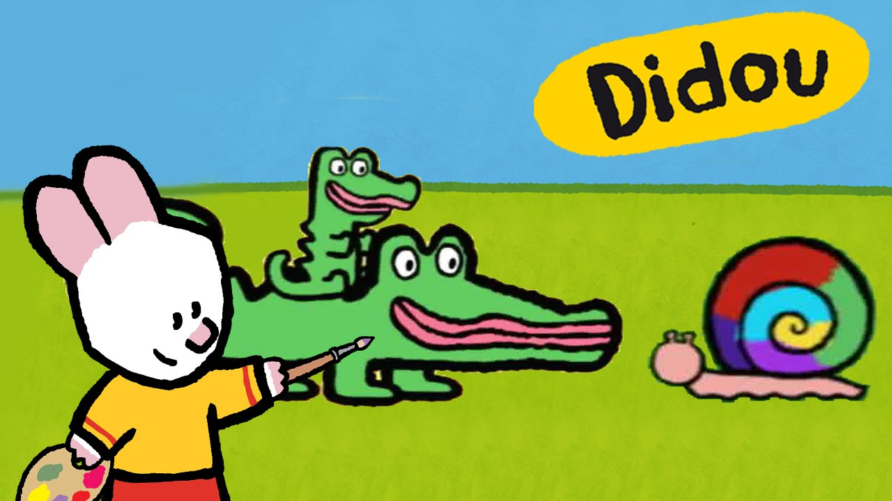 Didou dessine moi crocodile et escargot dessins anim s youtube - Dessin anime crocodile ...