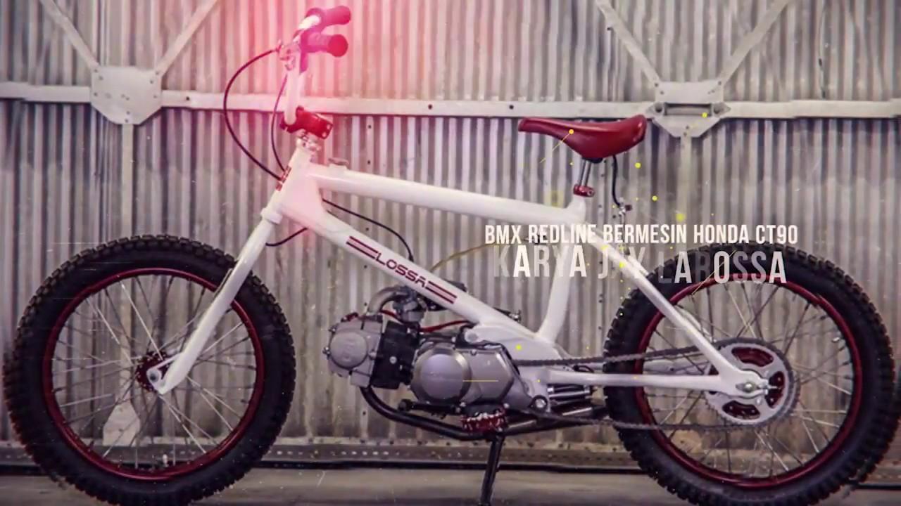 Gambar Modifikasi Sepeda Bmx Keren Keren Sepeda Bmx Red Line Ini Bermesin Honda Ct90 Youtube