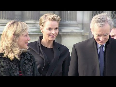 Charlene of Monaco aka Charlene Wittstock at Louis Vuitton Fashion show in Paris