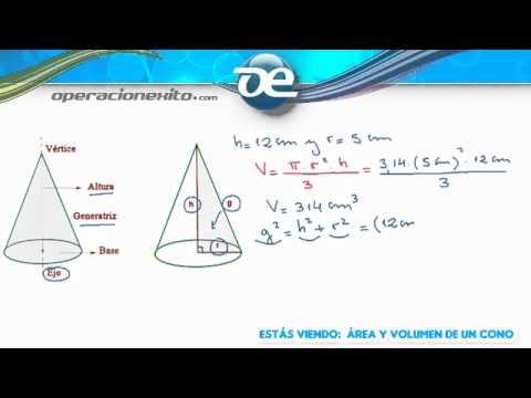 Rea y volumen de un cono youtube - Como hacer un cono ...