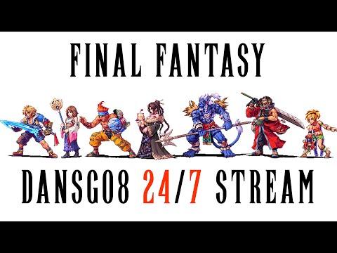 24/7 Final Fantasy Community Stream - FF7-7R-8-9-10-12-13-15 Walkthroughs By Dansg08 - Description