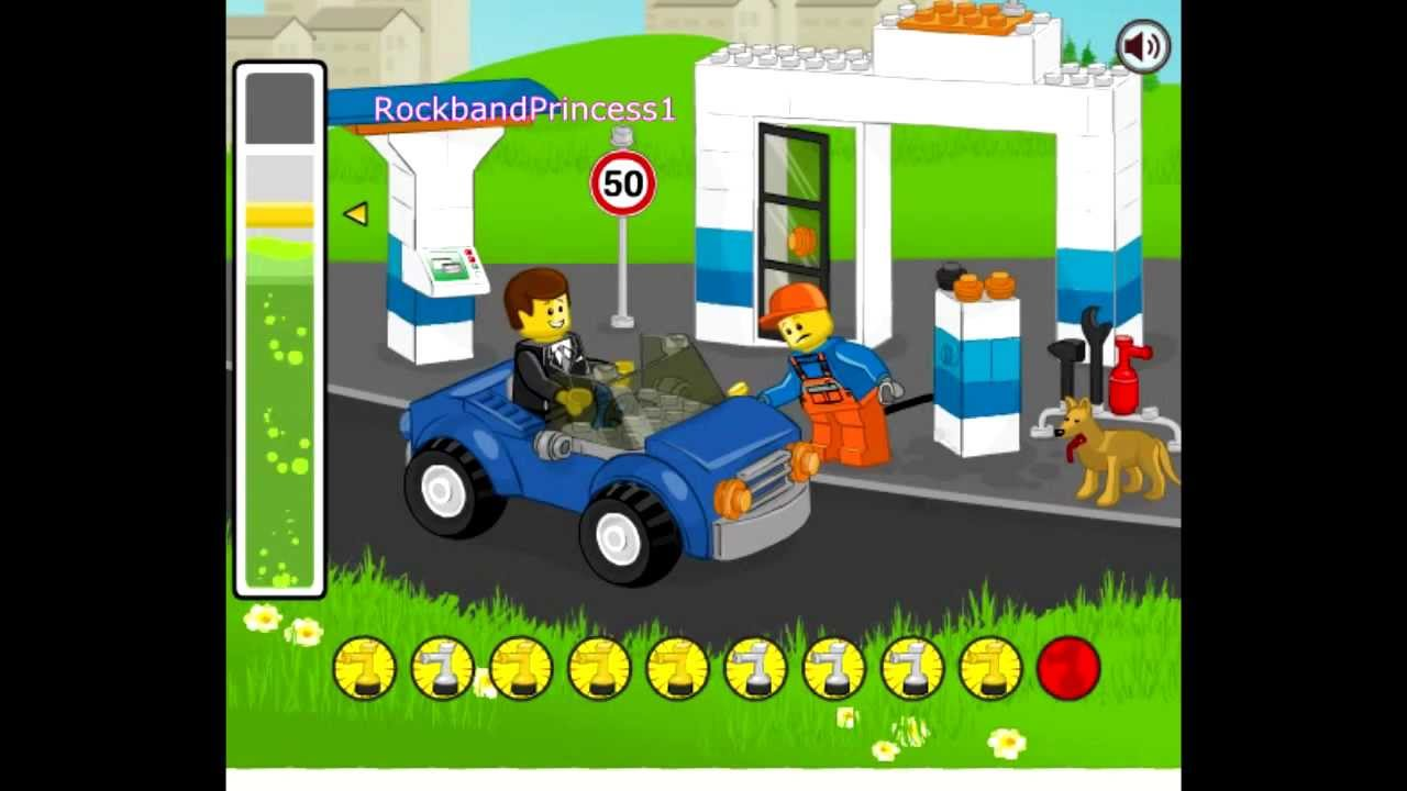 Legos For Free Play Free Lego Gas Station Game Lego Games To Play Youtube