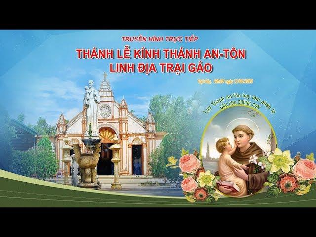 [Trực tiếp] Thánh Lễ Kính Thánh An-Tôn Linh Địa Trại Gáo Ngày 13/06/2020